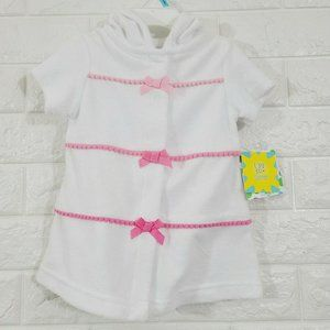 Littleme Front Ribbon Girl Hoodie Sweater Top